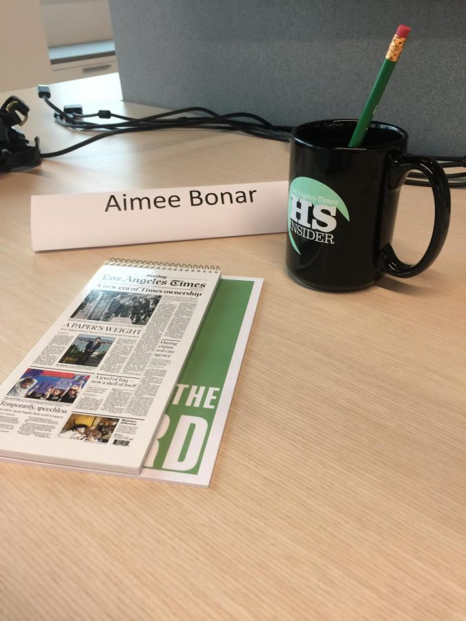 Aimee begins her first day at the LA Times.